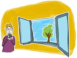Eviter de s'approcher d'une fenêtre