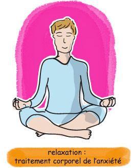 relaxation : traitement corporel de l'anxiété