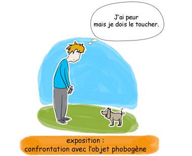 confrontation avec l'objet phobogène